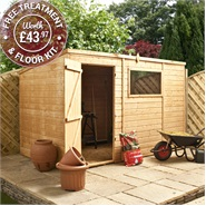 10 x 6 Waltons Tongue and Groove Pent Wooden Shed