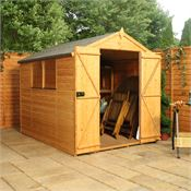 8 x 6 Waltons Tradesman Tongue and Groove Double Door Apex Wooden Shed