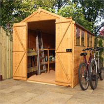 10' x 6' Waltons Tradesman Tongue and Groove Double Door Apex Wooden Shed