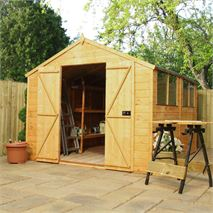 10' x 8' Waltons Tradesman Tongue and Groove Double Door Apex Wooden Shed