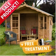 8 x 8 Waltons Sussex Wooden Summerhouse