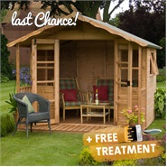 12 x 8 Waltons Sussex Wooden Summerhouse