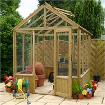 6 x 8 Waltons Pressure Treated Wooden Greenhouse