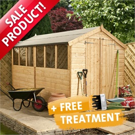 10' x 6' Tongue and Groove Apex Wooden Shed