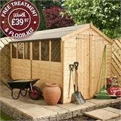10 x 6 Waltons Tongue and Groove Apex Wooden Shed