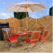 6 Seater Waltons Stainless Steel Kiiri Garden Furniture Set