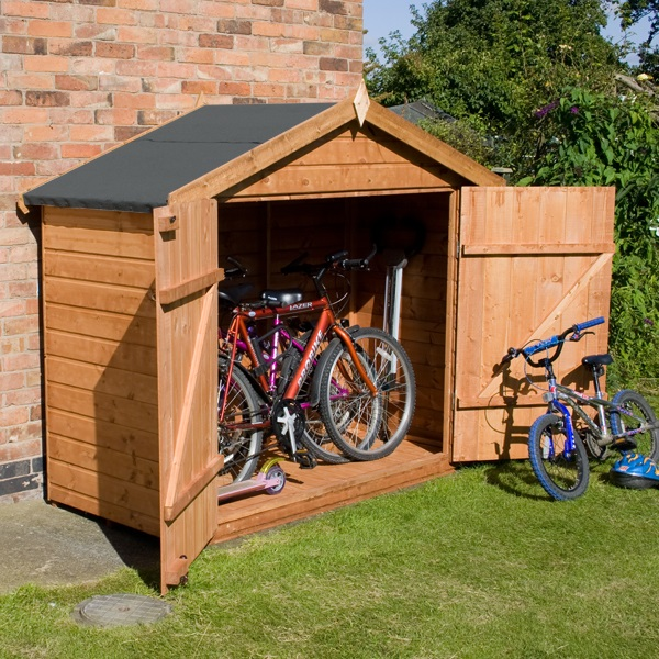 7 x 3 waltons tongue and groove apex wooden bike shed. Black Bedroom Furniture Sets. Home Design Ideas