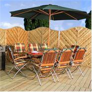8 Seater Waltons Stainless Steel Isla Garden Furniture Set